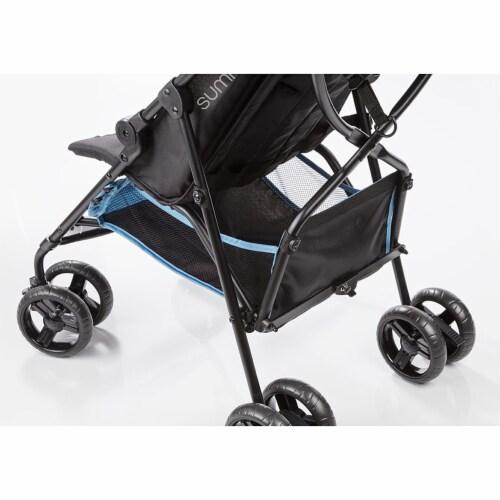 Summer Infant 3Dmini Convenience Lightweight Foldable Travel Baby Stroller, Blue Perspective: bottom