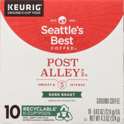 Seattle's Best Coffee Post Alley Dark Roast Coffee K-Cup Pods Perspective: bottom