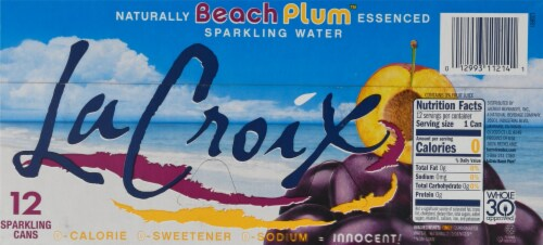 LaCroix Beach Plum Sparkling Water Perspective: bottom