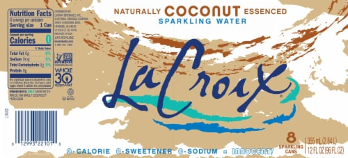 LaCroix Coconut Sparkling Water Perspective: bottom