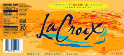 LaCroix Tangerine Sparkling Water Perspective: bottom