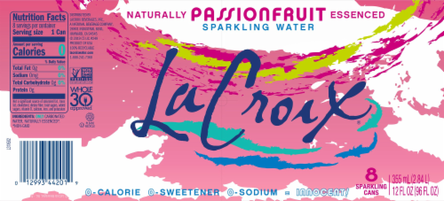 LaCroix Passionfruit Sparkling Water Perspective: bottom