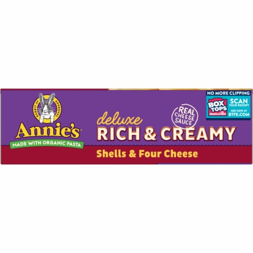 Annie's Deluxe Rich & Creamy Shells & Four Cheese Macaroni & Cheese Perspective: bottom