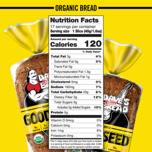 Dave's Killer Bread® Organic Good Seed Bread Perspective: bottom