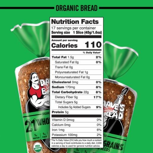 Dave's Killer Bread® Organic 21 Whole Grain Bread Perspective: bottom