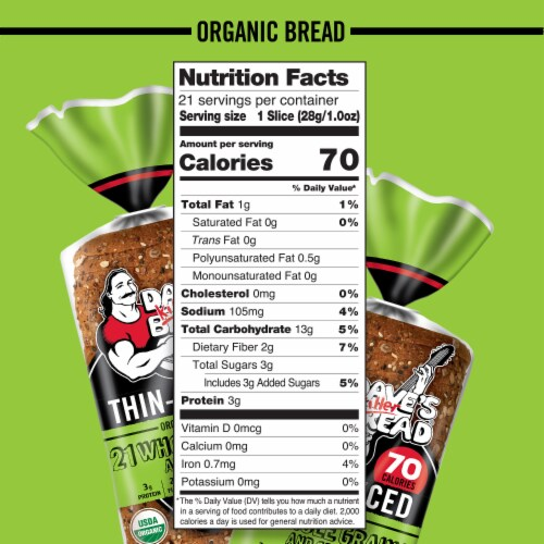 Dave's Killer Bread® Organic Thin-Sliced 21 Whole Grains and Seeds Bread Perspective: bottom