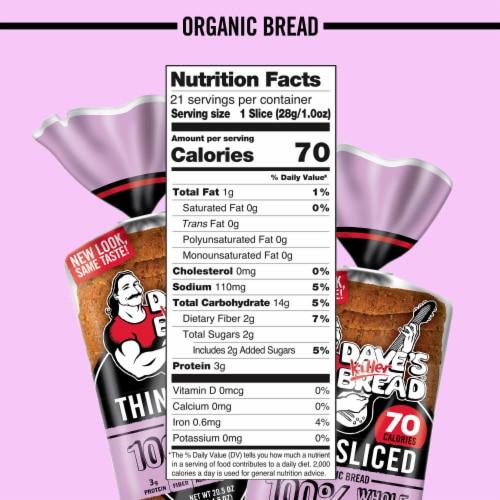 Dave's Killer Bread® Organic Thin-Sliced 100% Whole Wheat Bread Perspective: bottom
