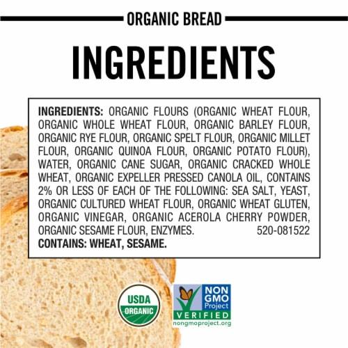 Dave's Killer Bread Organic Done Right White Bread Perspective: bottom