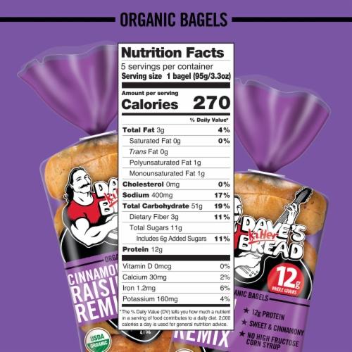 Dave's Killer Bread® Organic Cinnamon Raisin Remix® Bagels Perspective: bottom