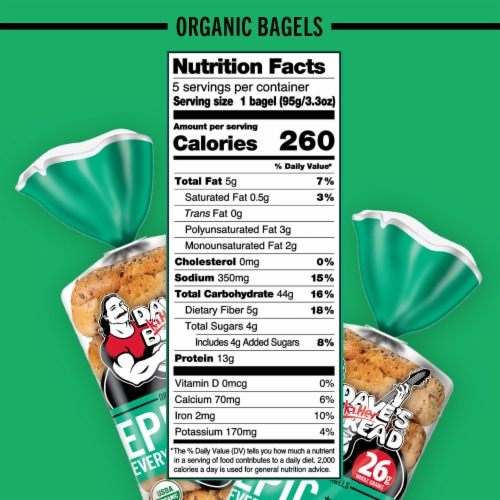 Dave's Killer Bread® Organic Epic Everything Bagels Perspective: bottom