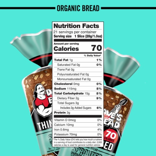 Dave's Killer Bread® Organic Sprouted Whole Grains Bread Perspective: bottom
