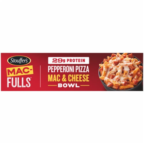Stouffer's® Mac-Fulls™ Pepperoni Pizza Mac & Cheese Bowl Frozen Meal Perspective: bottom