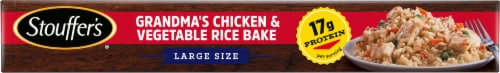 Stouffer's® Grandma's Chicken & Vegetable Rice Bake Large Size Frozen Meal Perspective: bottom
