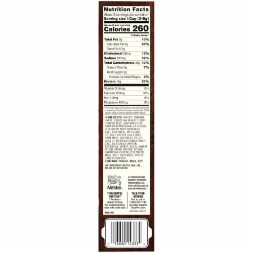 Stouffer's Lasagna with Meat & Sauce Frozen Meal Family Size Perspective: bottom