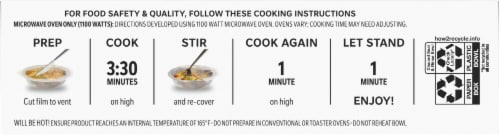 Lean Cuisine Cauli'Bowls Creamy Mac and Cheese Cauliflower Pasta Frozen Meal Perspective: bottom