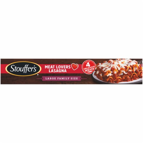 Stouffer's Large Family Size Meat Lovers Lasagna Frozen Meal Perspective: bottom
