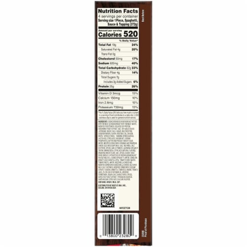 Stouffer's Large Family Size Chicken Parmesan Frozen Meal Perspective: bottom