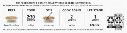 Lean Cuisine Bowls Mango Chicken with Coconut Rice Frozen Meal Perspective: bottom