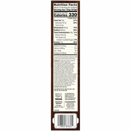 Stouffer's Family Size Meat Lovers Lasagna Frozen Meal Perspective: bottom