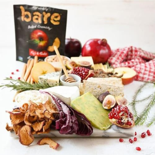 Bare Baked Crunchy Fuji & Reds Apple Chips (10 Ounce) Perspective: bottom