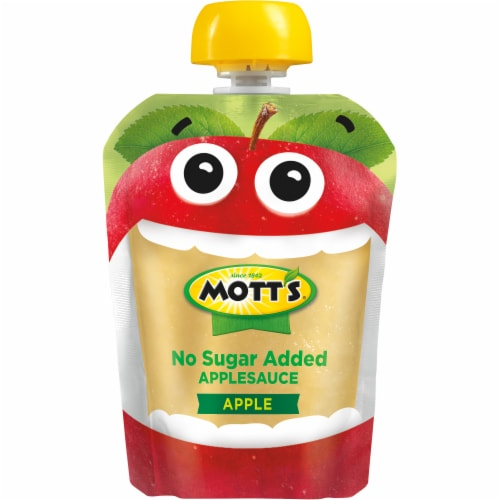Mott's No Sugar Added Applesauce Pouches Perspective: bottom