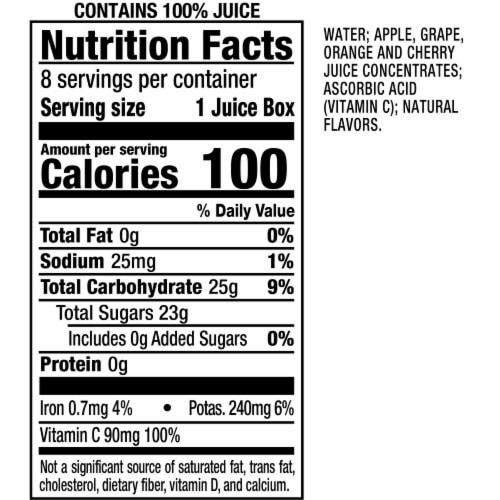 Mott's® Fruit Punch 100% Juice Boxes Perspective: bottom