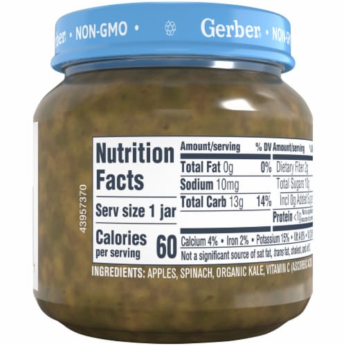 Gerber 2nd Foods Natural Apple Spinach & Kale Stage 2 Baby Food Perspective: bottom