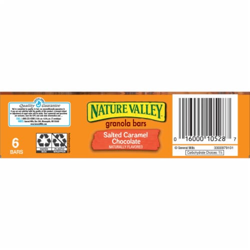 Nature Valley Sweet & Salty Nut Salted Caramel Chocolate Chewy Granola Bars Perspective: bottom