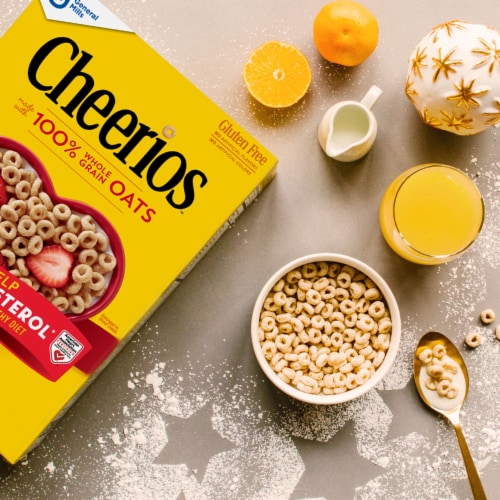Cheerios Toasted Whole Grain Oat Cereal Giant Size Perspective: bottom