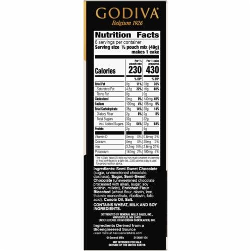 Godiva Molten Lava Cakes Baking Mix Perspective: bottom