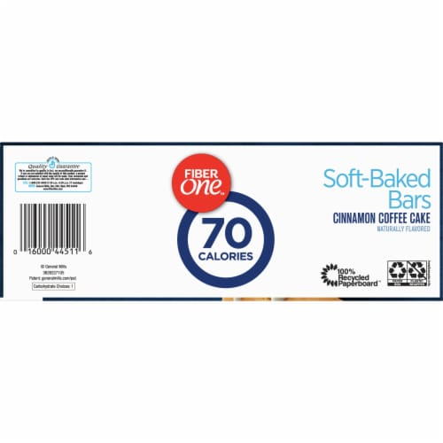 Fiber One 70 Calorie Cinnamon Coffee Cake Soft-Baked Bars Value Pack Perspective: bottom