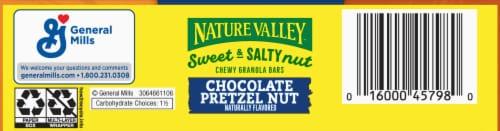 Nature Valley Sweet & Salty Nut Chocolate Pretzel Nut Granola Bars Perspective: bottom