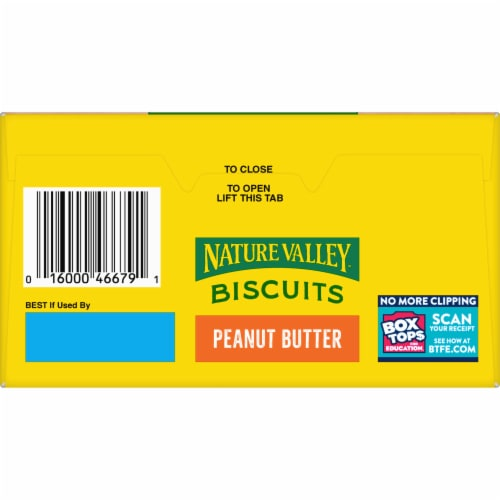 Nature Valley Honey Biscuits with Peanut Butter Filling Perspective: bottom