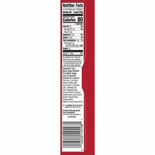 Betty Crocker Gluten Free Pokemon Assorted Fruit Snacks Perspective: bottom