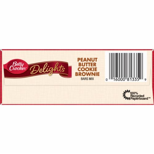 Betty Crocker Delights Peanut Butter Cookie Brownie Bars Mix Perspective: bottom