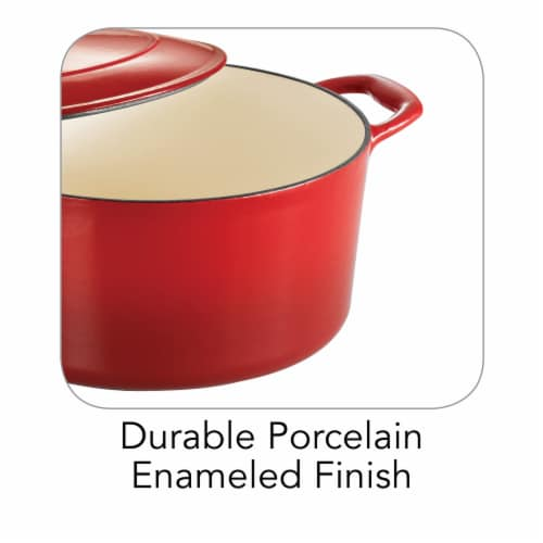 Tramontina Covered Round Dutch Oven - Red Perspective: bottom