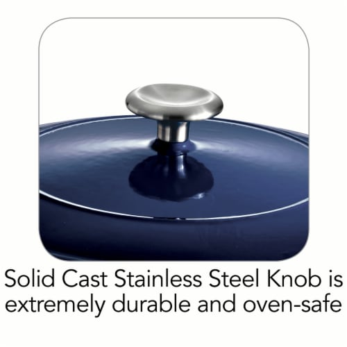 Tramontina Covered Round Dutch Oven - Blue Perspective: bottom