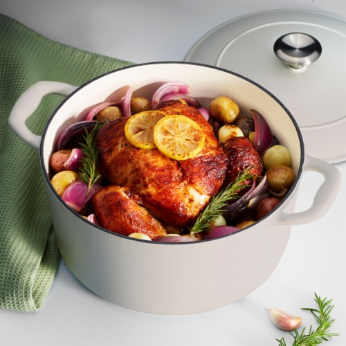 Tramontina Gourmet Covered Round Cast Iron Dutch Oven - Matte White Perspective: bottom