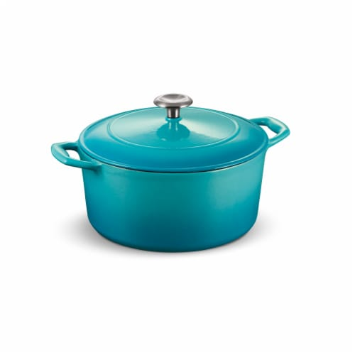 Tramontina Gourmet Covered Round Cast Iron Dutch Oven - Medium Blue Perspective: bottom