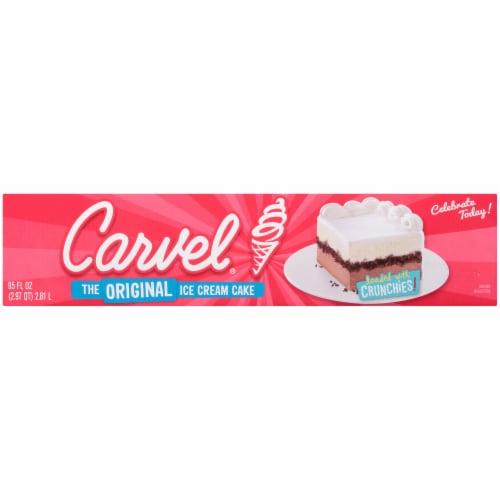 Carvel Celebration Chocolate and Vanilla Ice Cream Cake Perspective: bottom
