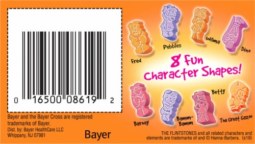 Flinstones Chewable Kids Vitamin Plus Immunity Support with Vitamins A C E & Zinc Perspective: bottom