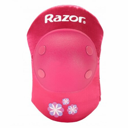Razor 96783 Child Youth Kids Bike Elbow & Knee Pad Safety Set, Sweet Pea Pink Perspective: bottom