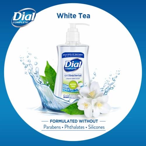 Dial Complete® White Tea Antibacterial Liquid Hand Soap Perspective: bottom