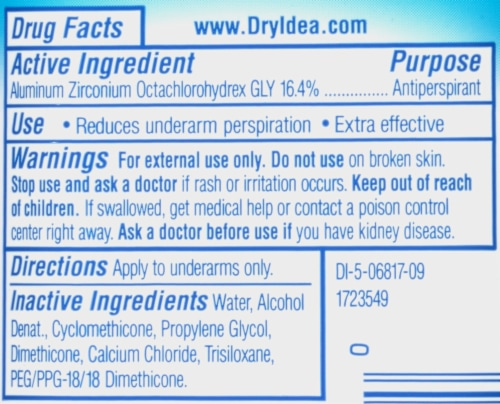 Dry Idea Advanced Dry Unscented Clear Gel Deodorant Perspective: bottom