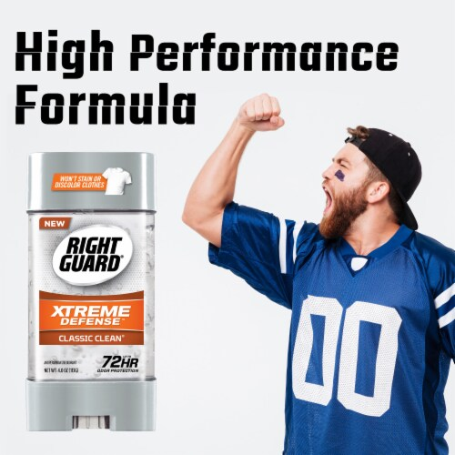 Right Guard® Xtreme Defense Classic Clean Deodorant Perspective: bottom