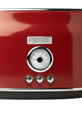 Haden Dorset Stainless Steel 2-Slice Toaster - Red Perspective: bottom
