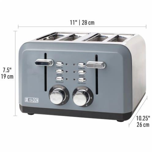 Haden Perth 4-Slice Wide Slot Toaster - Slate Grey Perspective: bottom