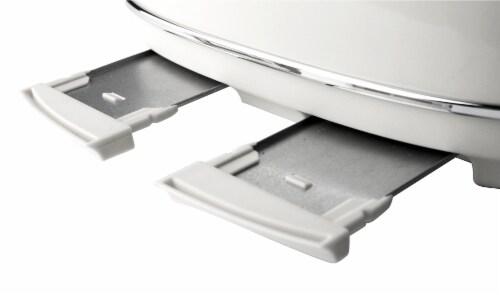 Haden Heritage 4-Slice Wide Slot Toaster - Ivory White Perspective: bottom