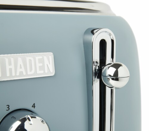 Haden Highclere 4-Slice Wide Slot Toaster - Poole Blue Perspective: bottom