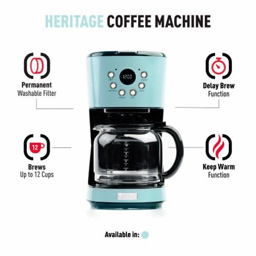 Haden Heritage Programmable Coffee Maker - Turquoise Perspective: bottom
